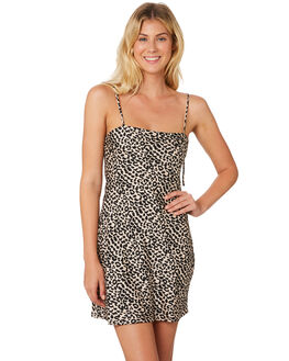 LEOPARD WOMENS CLOTHING LULU AND ROSE DRESSES - LU23672MLT