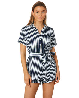 MORROCAN BLUE WOMENS CLOTHING RUE STIIC PLAYSUITS + OVERALLS - SA19-14-FSB