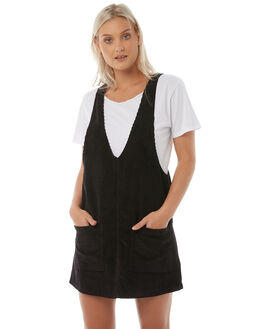 VINTAGE BLACK WOMENS CLOTHING RUSTY PLAYSUITS + OVERALLS - DRL0894VBL
