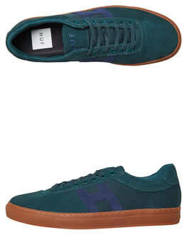 PINE NAVY MENS FOOTWEAR HUF SKATE SHOES - CP00021PNNA