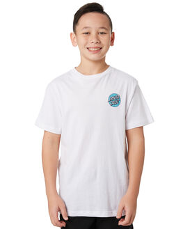 WHITE KIDS BOYS SANTA CRUZ TOPS - SC-YTC9225WHT