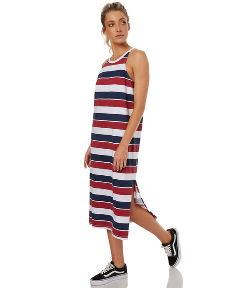 NAVY BLUE WOMENS CLOTHING RUSTY DRESSES - DRL0889NVB