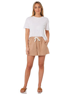 MOCHA WOMENS CLOTHING NUDE LUCY SHORTS - NU23685MOCH