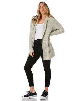 CREAM WOMENS CLOTHING VOLCOM KNITS + CARDIGANS - B0711979CRM