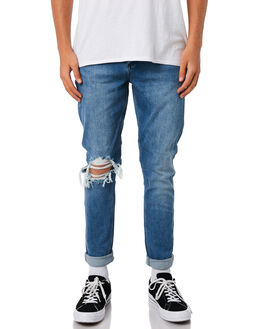 HERESY INDIGO MENS CLOTHING WRANGLER JEANS - W-901303-F03HERES