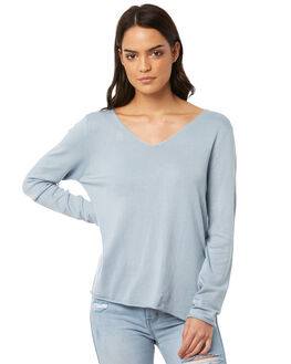 MUSK BLUE WOMENS CLOTHING ALL ABOUT EVE KNITS + CARDIGANS - 6413030BLU