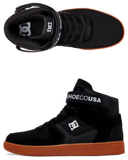 BLACK/GUM MENS FOOTWEAR DC SHOES SNEAKERS - ADYS400038-BGM