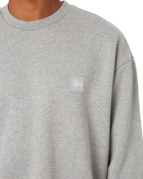 TRUE GREY MARLE MENS CLOTHING STUSSY HOODIES + SWEATS - ST011203TRUGM