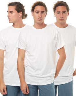 WHITE MENS CLOTHING HUF TEES - TS00053WHT