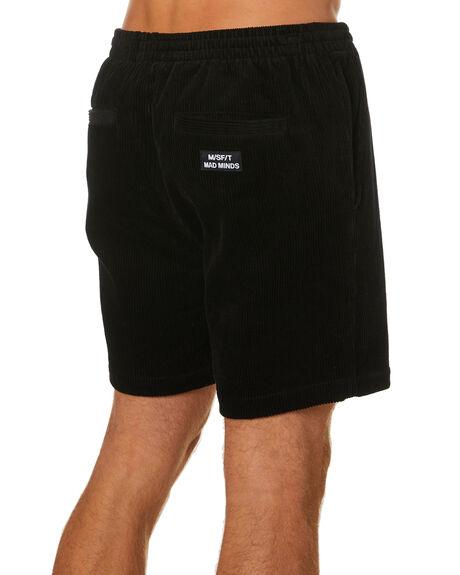 BLACK MENS CLOTHING MISFIT SHORTS - MT001616BLK