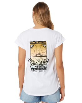 WHITE WOMENS CLOTHING RIP CURL TEES - GTECX21000
