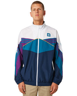 WHITE MENS CLOTHING ADIDAS JACKETS - DH6639WHT