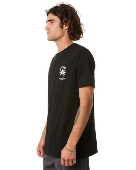 BLACK MENS CLOTHING SWELL TEES - S5222001BLK