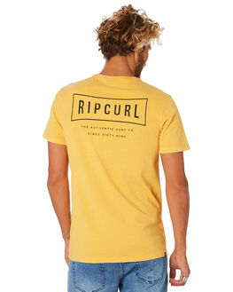 BRIGHT YELLOW MENS CLOTHING RIP CURL TEES - CTEJF99328