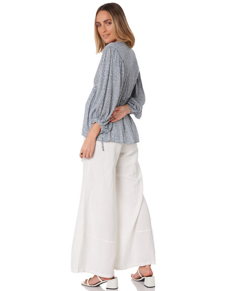 MAPLE NAVY WOMENS CLOTHING LILYA FASHION TOPS - RVT2092-MP