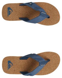 BLUE/BROWN/BLUE MENS FOOTWEAR QUIKSILVER THONGS - AQYL100761-XBCB