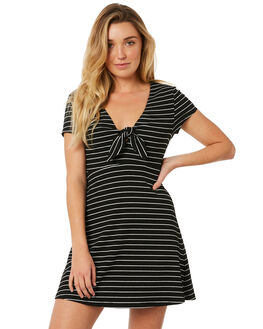 BLACK WHITE WOMENS CLOTHING MINKPINK DRESSES - MP1803051BKWHT