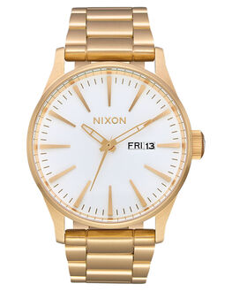 ALL GOLD WHITE MENS ACCESSORIES NIXON WATCHES - A356-504