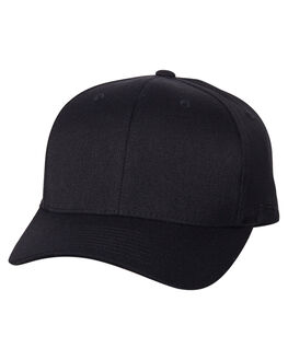 BLACK MENS ACCESSORIES FLEX FIT HEADWEAR - 172601BLK