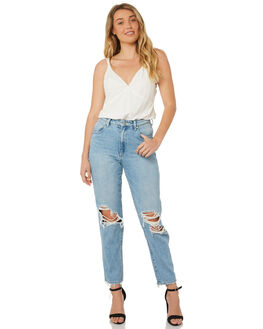 SUMMER BUSTED WOMENS CLOTHING WRANGLER JEANS - W-951257-GU9