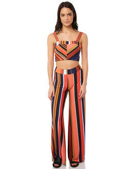 MULTI STRIPE WOMENS CLOTHING TIGERLILY PANTS - T381376MUL