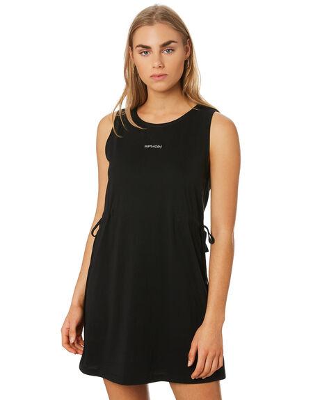 BLACK WOMENS CLOTHING RPM DRESSES - 9SWD01BBLK