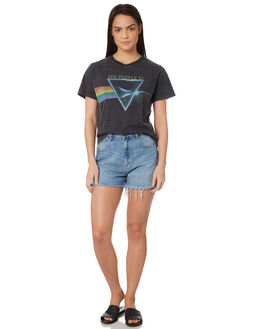 SMASHED BLACK WOMENS CLOTHING THE PEOPLE VS TEES - AW19W009SBLK