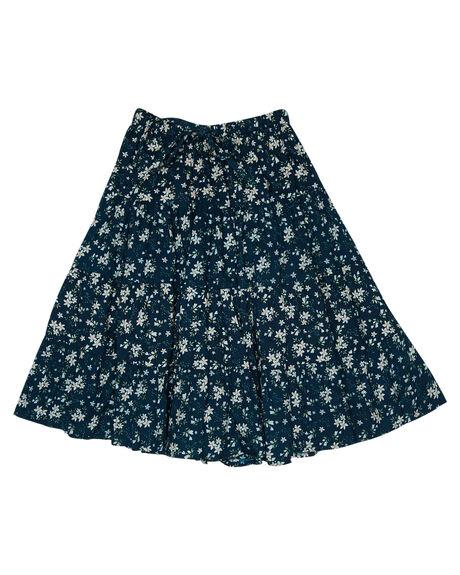 BLUE FLORAL OUTLET KIDS ISLAND STATE CO CLOTHING - FLRLMAXSKRT-BLUFL