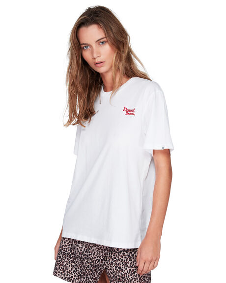 WHITE WOMENS CLOTHING ELEMENT TEES - EL-294006-WHT