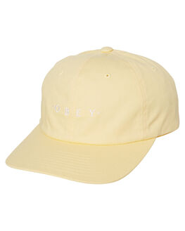 PALE YELLOW MENS ACCESSORIES OBEY HEADWEAR - 100580150YEL