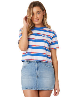 SUMMER STRIPE WOMENS CLOTHING WRANGLER TEES - W-951274-IW2