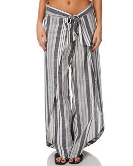WHITE/BLACK WOMENS CLOTHING RIP CURL PANTS - GPADB13014
