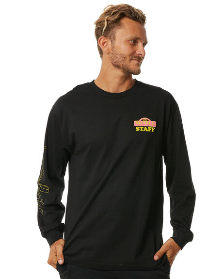 BLACK MENS CLOTHING CHOCOLATE TEES - CTS317201BLK