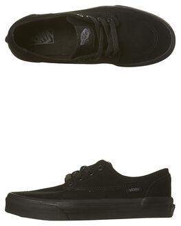 BLACK BLACK KIDS BOYS VANS SNEAKERS - VN-018S6D3BBK