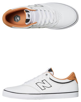 WHITE WHITE MENS FOOTWEAR NEW BALANCE SKATE SHOES - NM255WBLK