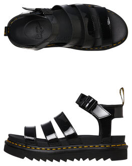 BLACK WOMENS FOOTWEAR DR. MARTENS FASHION SANDALS - SS24192001BLKW