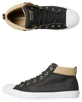 BLACK KHAKI MENS FOOTWEAR CONVERSE SNEAKERS - 160487BLK