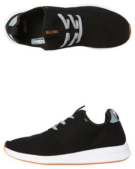 BLACK GREY MENS FOOTWEAR GLOBE SNEAKERS - GBDART-2008720087