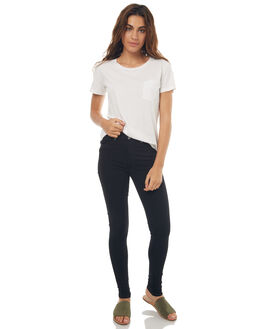 BLACK WOMENS CLOTHING DR DENIM JEANS - 1510111-101BLK