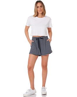 WHITE NAVY WOMENS CLOTHING SEAFOLLY SHORTS - 53878-SHWHTNV