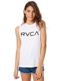 WHITE WOMENS CLOTHING RVCA SINGLETS - R262673WHT