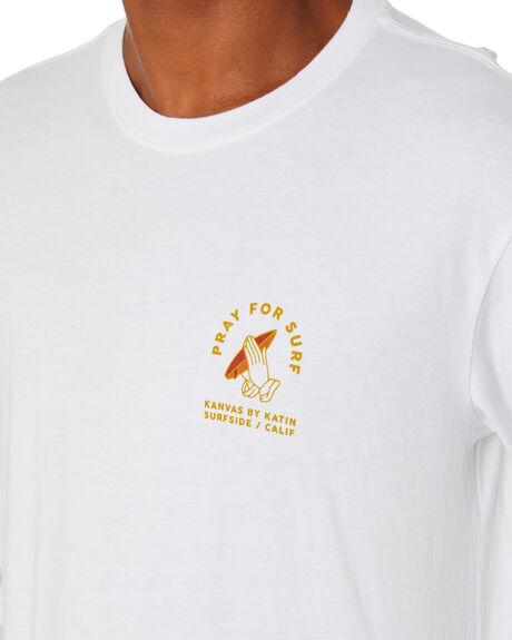 WHITE MENS CLOTHING KATIN TEES - LSPFS06WHT