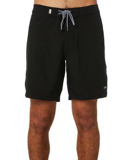BLACK MENS CLOTHING RHYTHM BOARDSHORTS - JUL19M-TR11-BLK