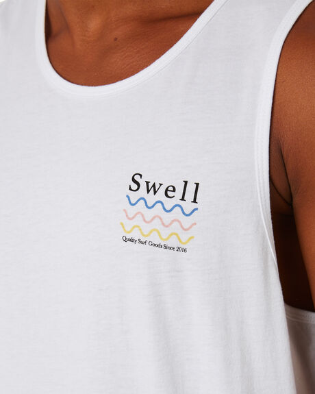 WHITE MENS CLOTHING SWELL SINGLETS - S5203273WHITE