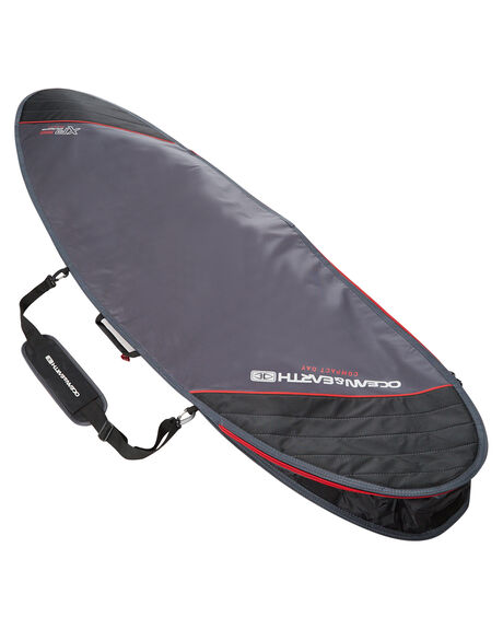 BLACK RED BOARDSPORTS SURF OCEAN AND EARTH BOARDCOVERS - SCFB33BLKRE