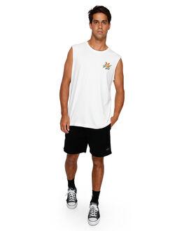 ANTIQUE WHITE MENS CLOTHING RVCA SINGLETS - RV-R191013-AWT