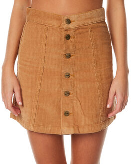 TAN WOMENS CLOTHING AFENDS SKIRTS - 52-03-053TAN