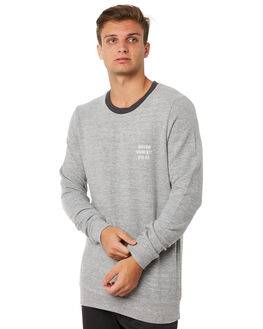 VINTAGE GREY MENS CLOTHING RHYTHM JUMPERS - JUL18M-FL01GRY