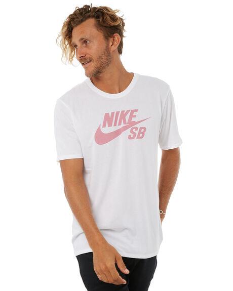 WHITE PINK MENS CLOTHING NIKE TEES - 821946102