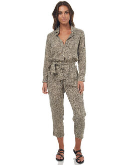 LEOPARD PRINT WOMENS CLOTHING RUE STIIC PLAYSUITS + OVERALLS - SO1706YLEOP